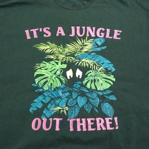 Fruit of the Loom Shirts - Vintage hunter green graphic funny t-shirt